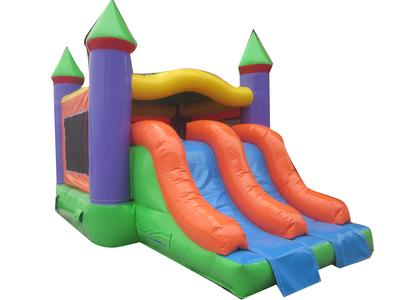 Deluxe castle with slide combo