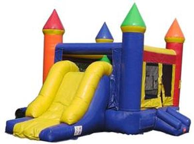 Rainbow castle with slide combo
